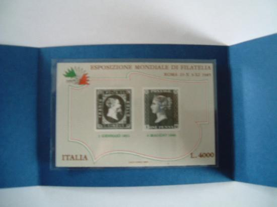Foglietto Repubblica Italiana anno 1985
