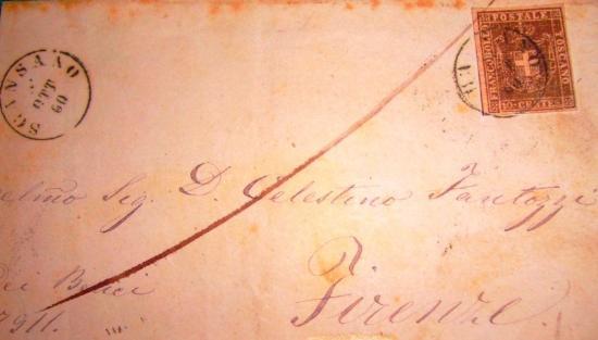 10 cent. Gran Ducato di Toscana su busta