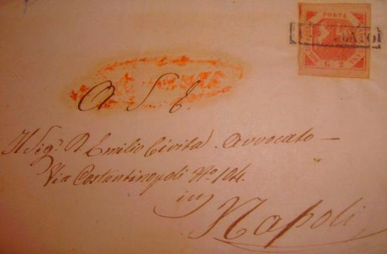 2 Grana 1858 Stemma delle Due Sicilie