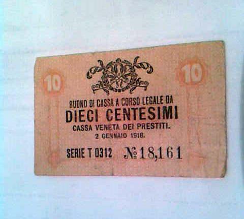 BUONO CASSA 1918