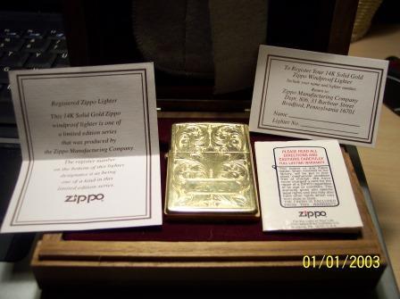 zippo in oro massiccio
