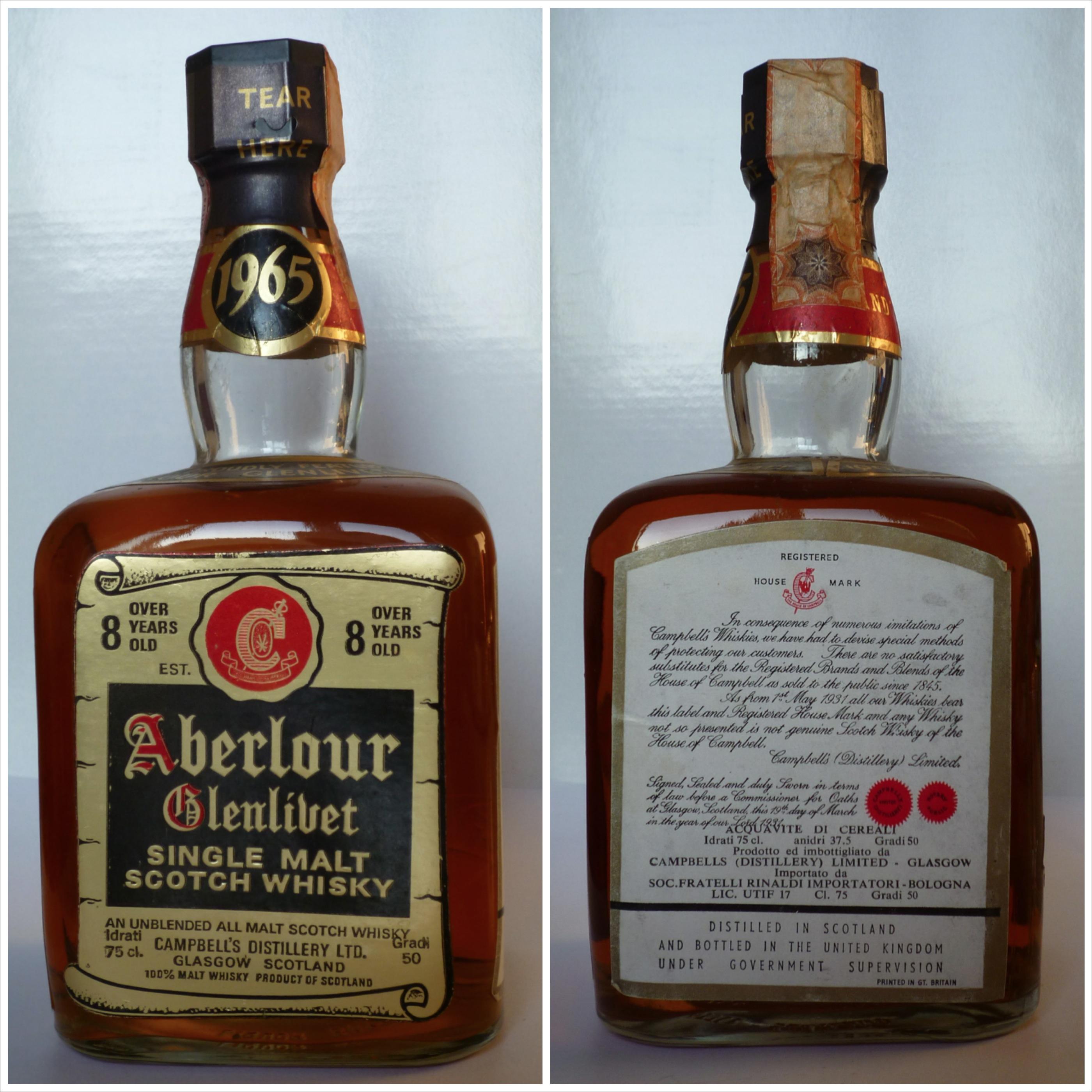 whisky Aberlour Glenlivet 1965