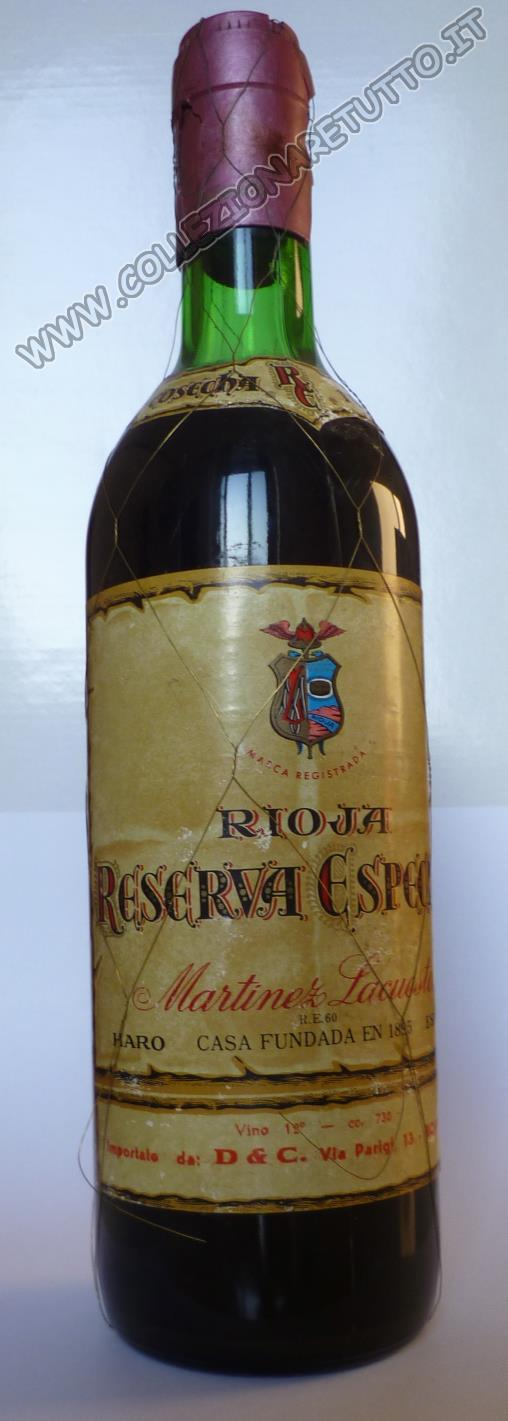 Rioja Martinez Lacuesta Reserva 1922