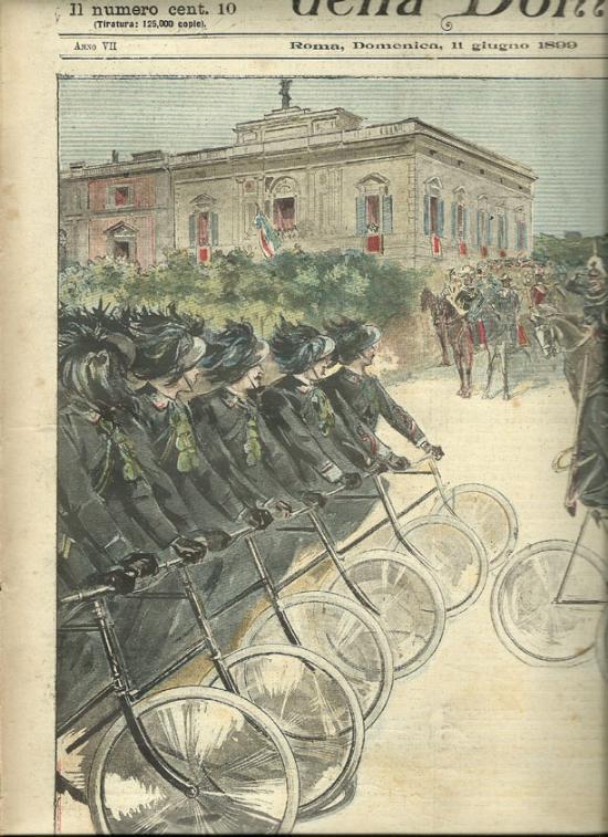 Il plotone dei Bersaglieri ciclisti