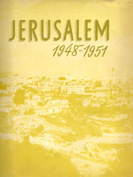 Libro Jerusalem 1948 - 1951
