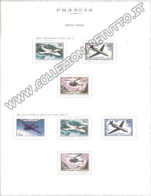 Francia Posta Aerea 1957/59