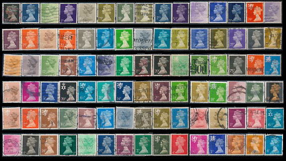 7 album di francobolli del Regno Unito