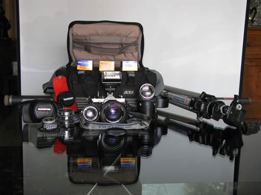 vista d'insieme kit fotografico