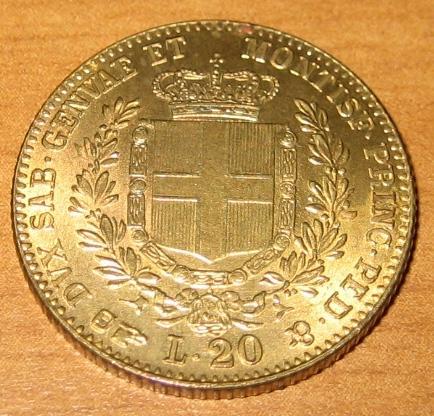 Immagine moneta 20 lire 1859