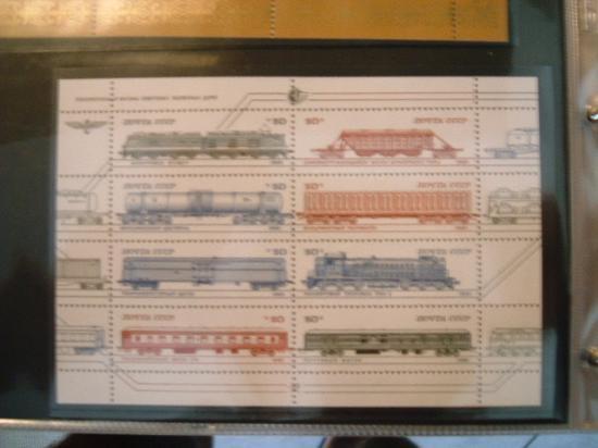 RUSSIA anno 1985 - Locomotive e vagoni r