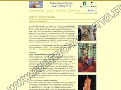 Musei Mazzucchelli - Moda e del Costume
