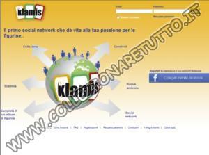 Klamis.it il Social Network per i Collezionisti di Figurine